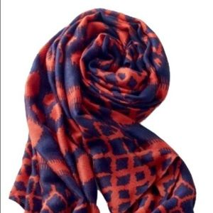 Stella & Dot Navy and red scarf